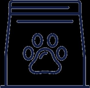 Icon of a dog food bag