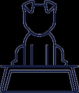 Icon of a dog sitting